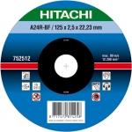 Диск отрезной для УШМ (125х22,2 мм), HITACHI, 752512